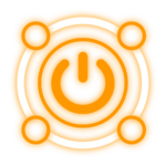 orange power logo surrounded by 4 more circles